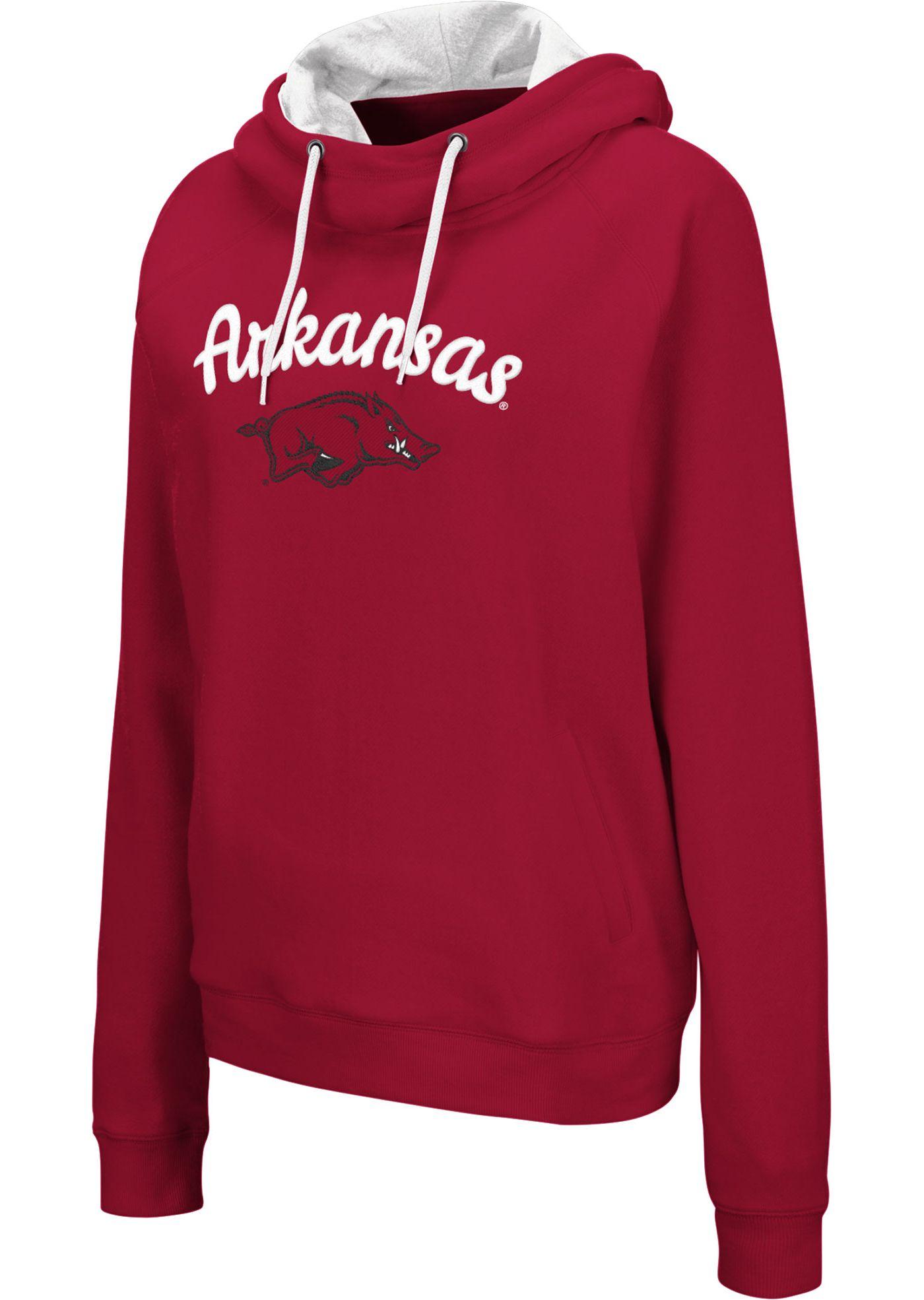 Colosseum Women's Arkansas Razorbacks Cardinal Louise Pullover Sweatshirt