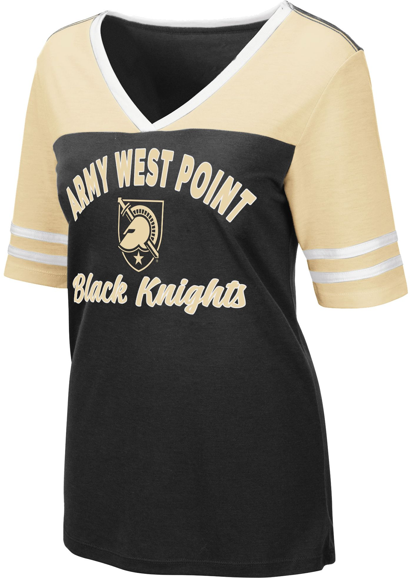 Colosseum Women's Army West Point Black Knights Army Black/USMA Gold Samantha T-Shirt