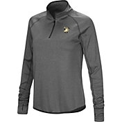 Colosseum Women's Army West Point Black Knights Grey Stingray Quarter-Zip Shirt