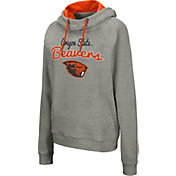Colosseum Women's Oregon State Beavers Grey Studio Funnel Pullover Hoodie