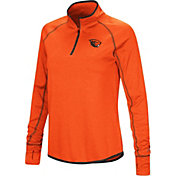 Colosseum Women's Oregon State Beavers Orange Stingray Quarter-Zip Shirt