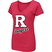 Colosseum Women's Rutgers Scarlet Knights Scarlet Dual Blend V-Neck T-Shirt