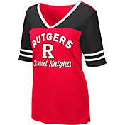 Colosseum Women's Rutgers Scarlet Knights Samantha Black T-Shirt
