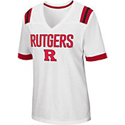 Colosseum Women's Rutgers Scarlet Knights Lowland White T-Shirt