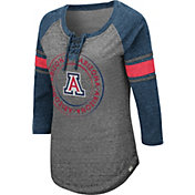Colosseum Women's Arizona Wildcats Grey Carrie Long Sleeve T-Shirt