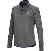 Colosseum Women's Arizona Wildcats Grey Stingray Quarter-Zip Shirt