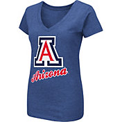 Colosseum Women's Arizona Wildcats Navy Dual Blend V-Neck T-Shirt