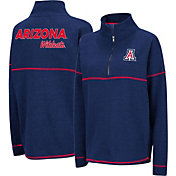 Colosseum Women's Arizona Wildcats Navy Horsetail Half-Zip Shirt