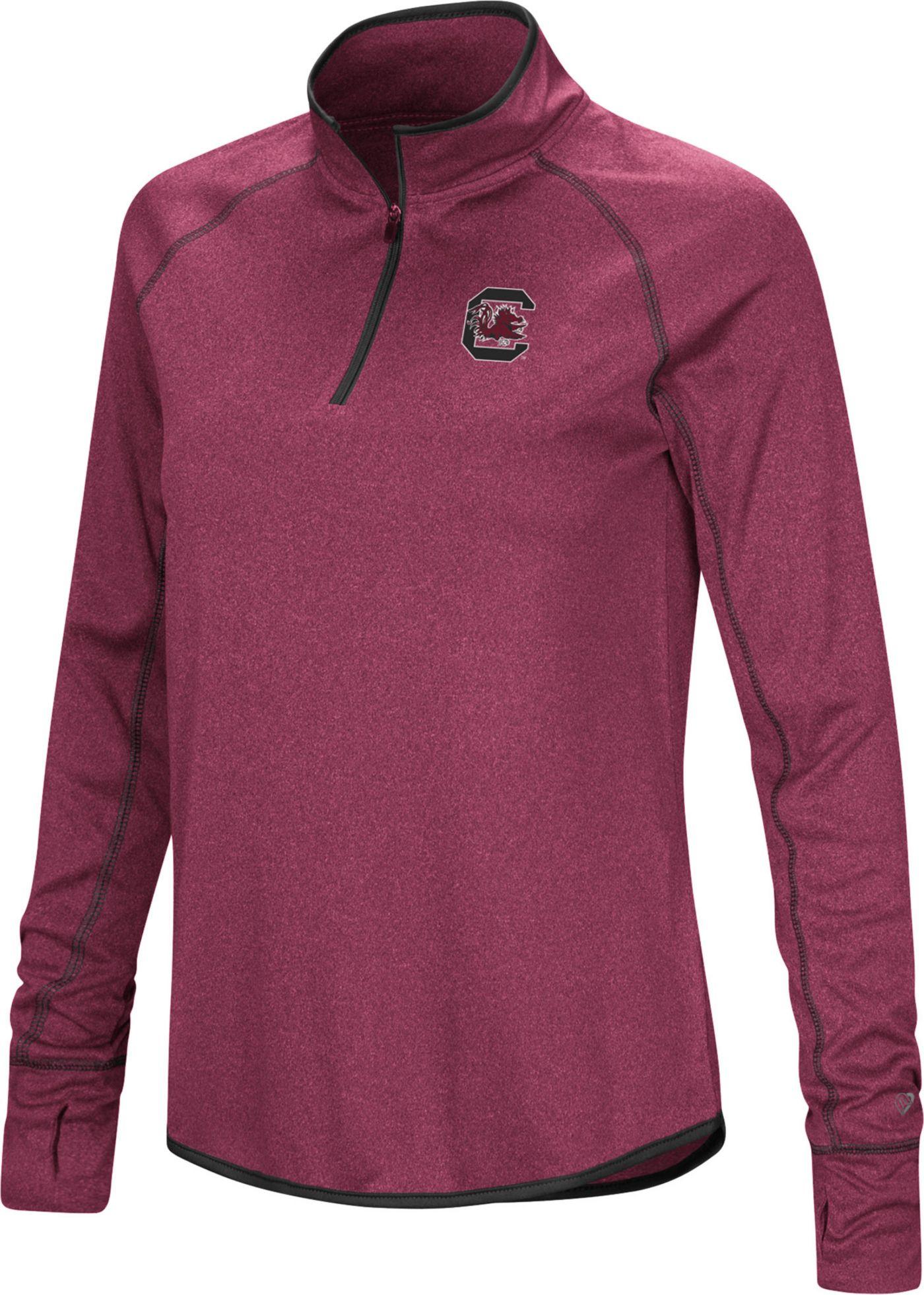 Colosseum Women's South Carolina Gamecocks Garnet Stingray Quarter-Zip Shirt