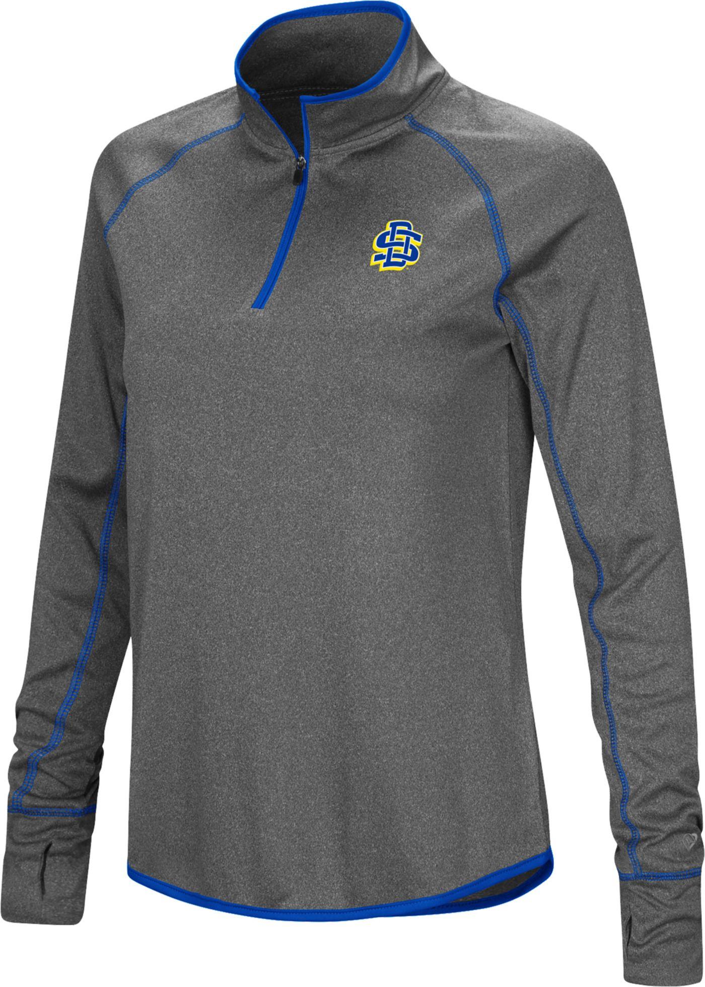 Colosseum Women's South Dakota State Jackrabbits Grey Stingray Quarter-Zip Shirt