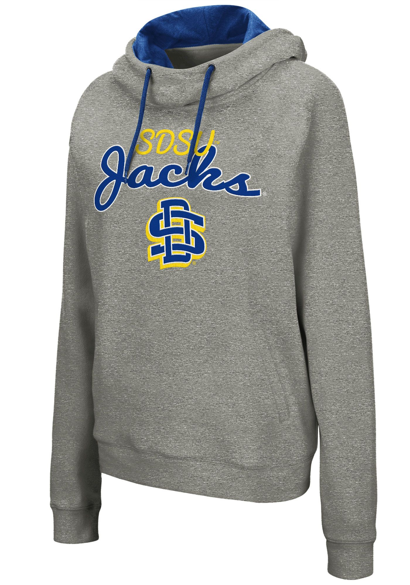 Colosseum Women's South Dakota State Jackrabbits Grey Studio Funnel Pullover Hoodie
