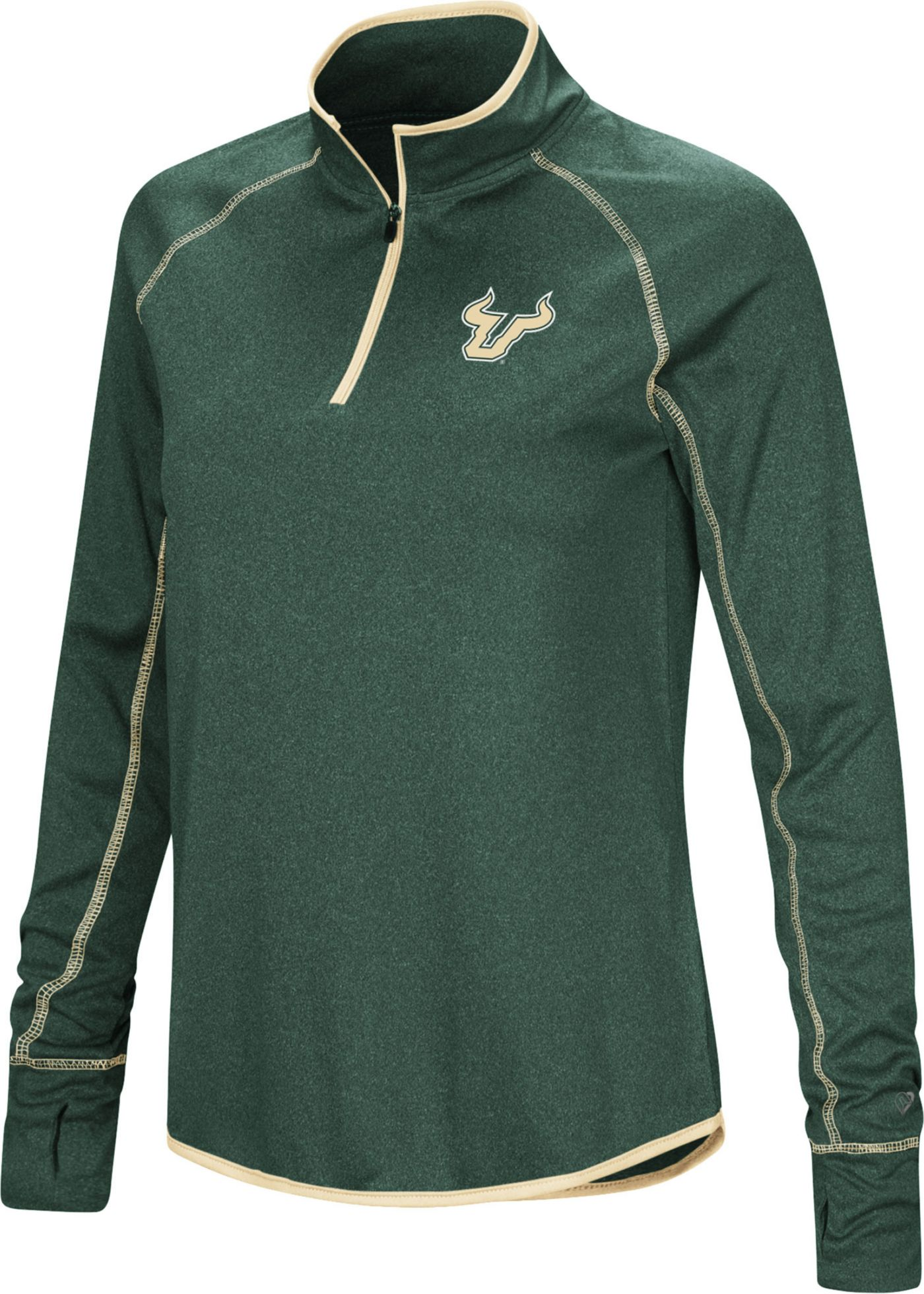 Colosseum Women's South Florida Bulls Green Stingray Quarter-Zip Shirt