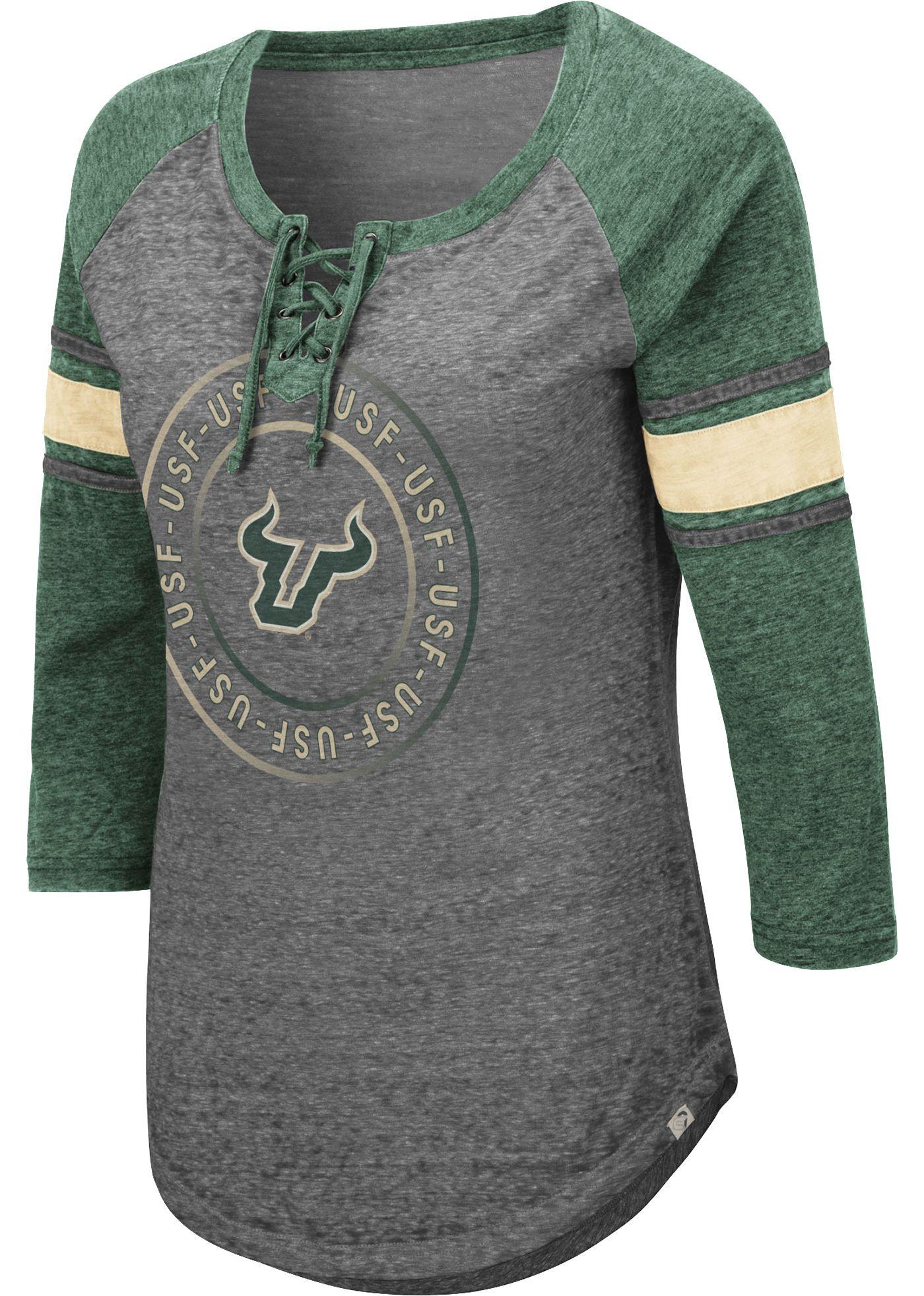Colosseum Women's South Florida Bulls Grey Carrie Long Sleeve T-Shirt