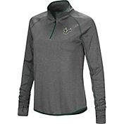 Colosseum Women's South Florida Bulls Grey Stingray Quarter-Zip Shirt