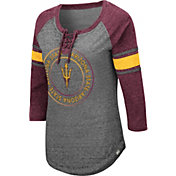 Colosseum Women's Arizona State Sun Devils Grey Carrie Long Sleeve T-Shirt