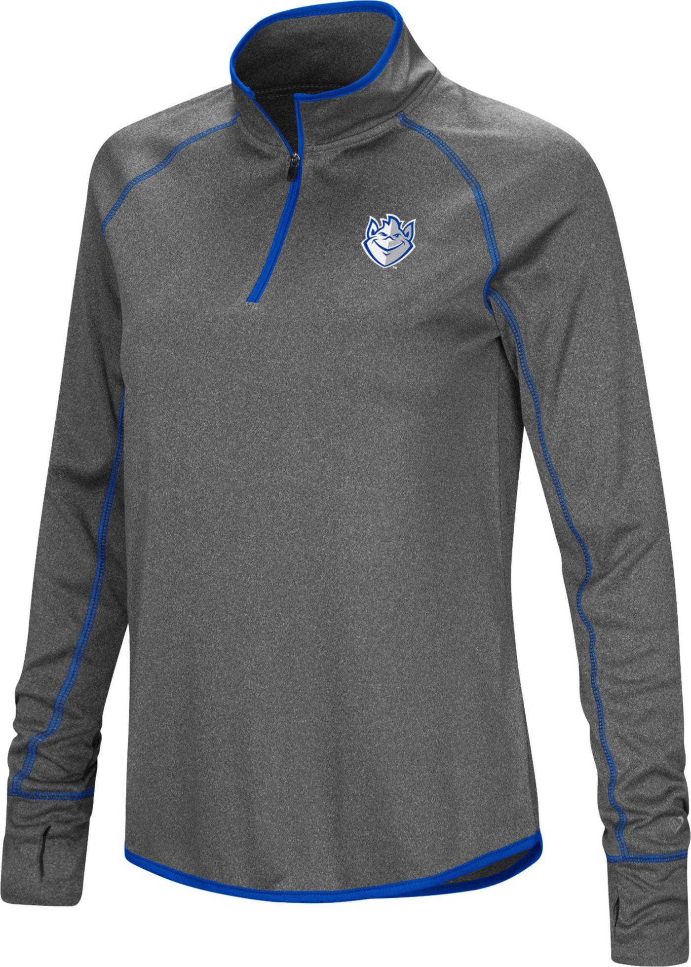 Colosseum Women's Saint Louis Billikens Grey Stingray Quarter-Zip Shirt