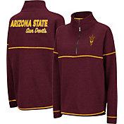 Colosseum Women's Arizona State Sun Devils Maroon Horsetail Half-Zip Shirt