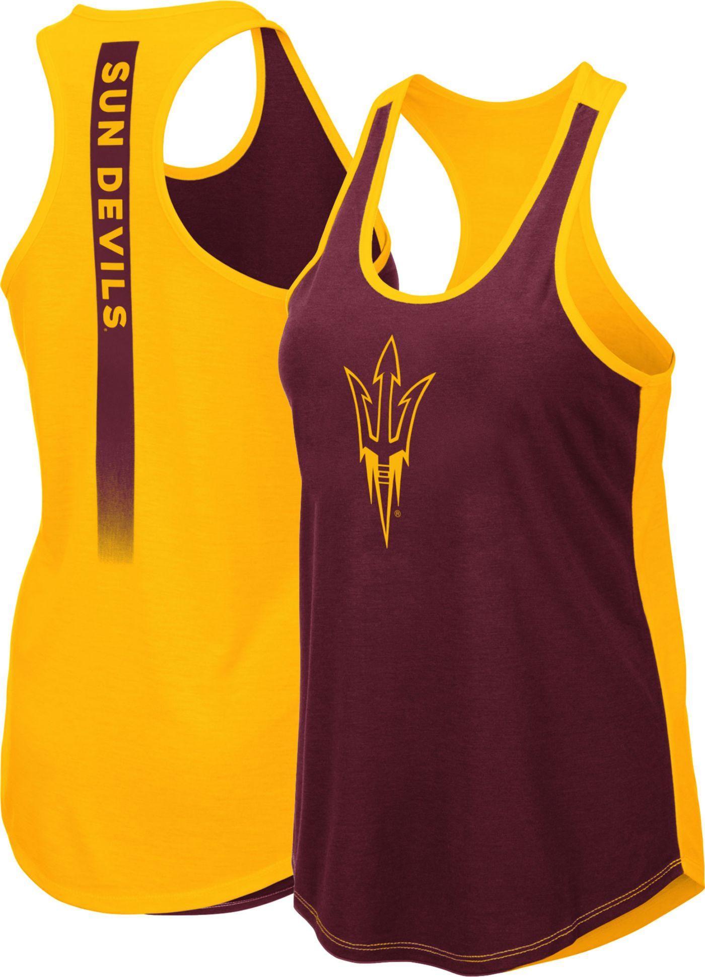 Colosseum Women's Arizona State Sun Devils Gold/Maroon Publicist Tank Top