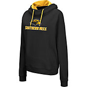 Colosseum Women's Southern Miss Golden Eagles Louise Pullover Black Sweatshirt