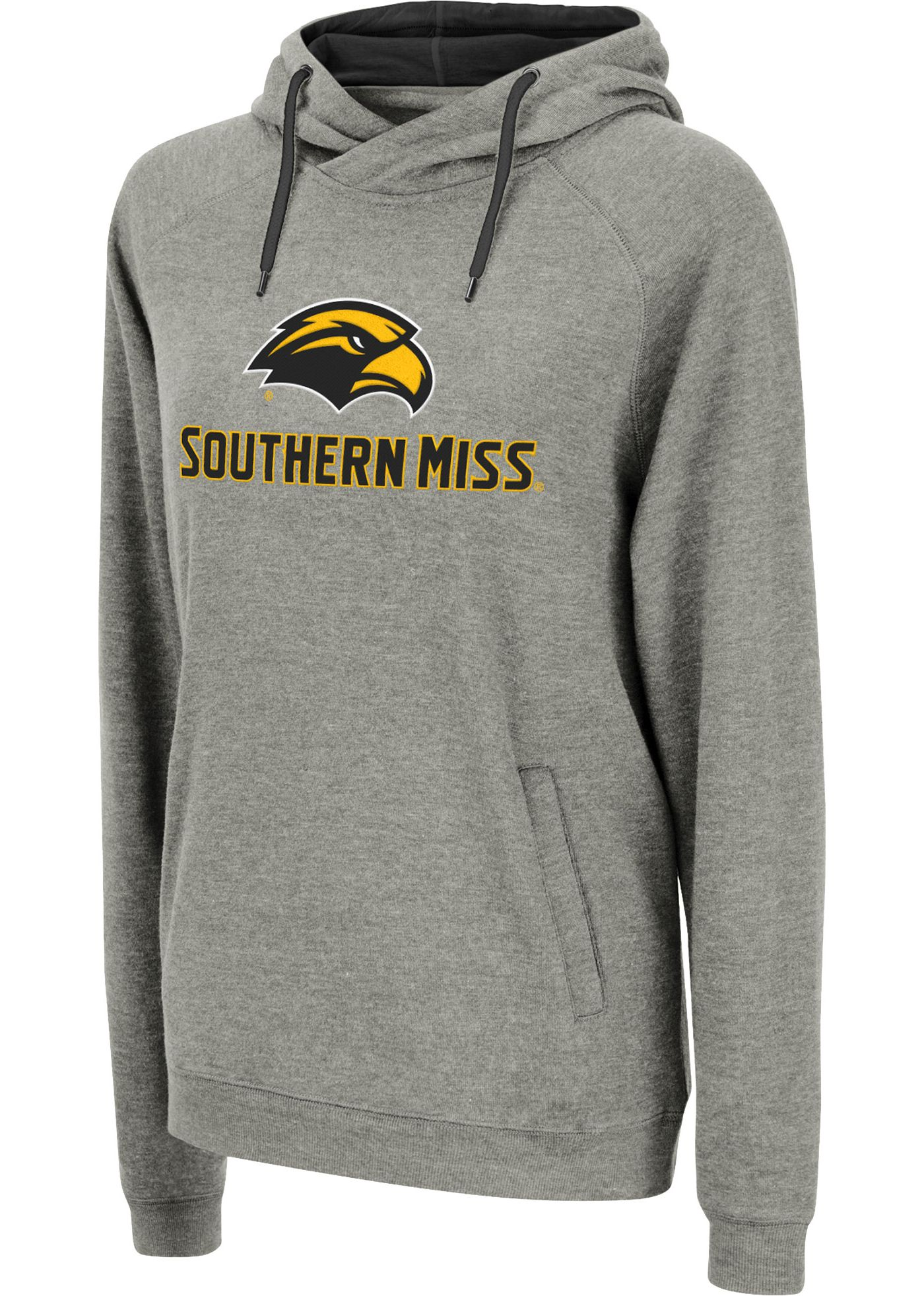 Colosseum Women's Southern Miss Golden Eagles Grey Louise Pullover Sweatshirt