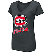 Colosseum Women's St. Cloud State Huskies Dual Blend V-Neck Black T-Shirt