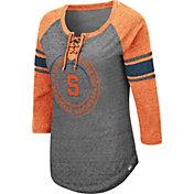 Colosseum Women's Syracuse Orange Grey Carrie Long Sleeve T-Shirt