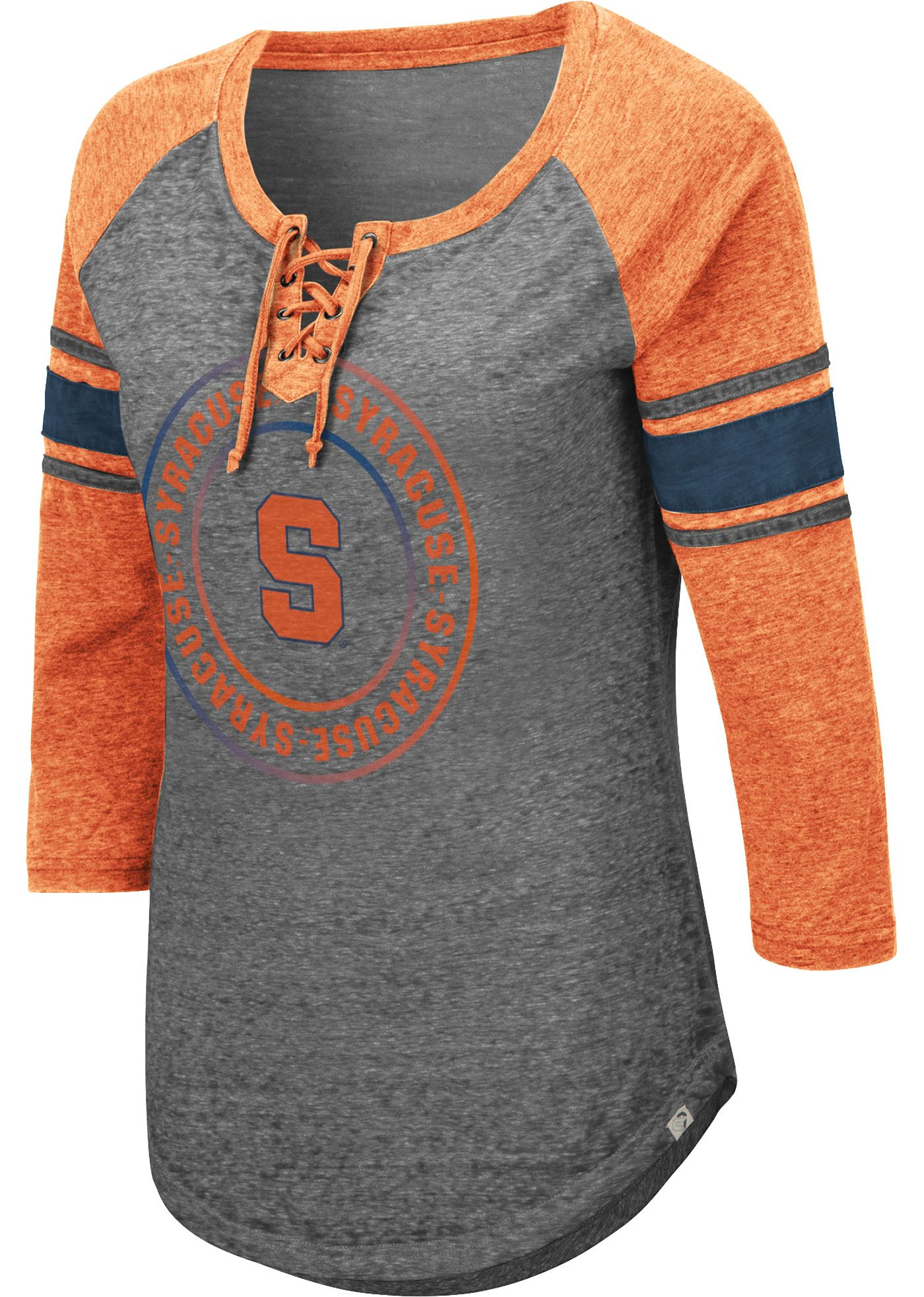 Colosseum Women's Syracuse Orange Grey Carrie Long Sleeve T-Shirt