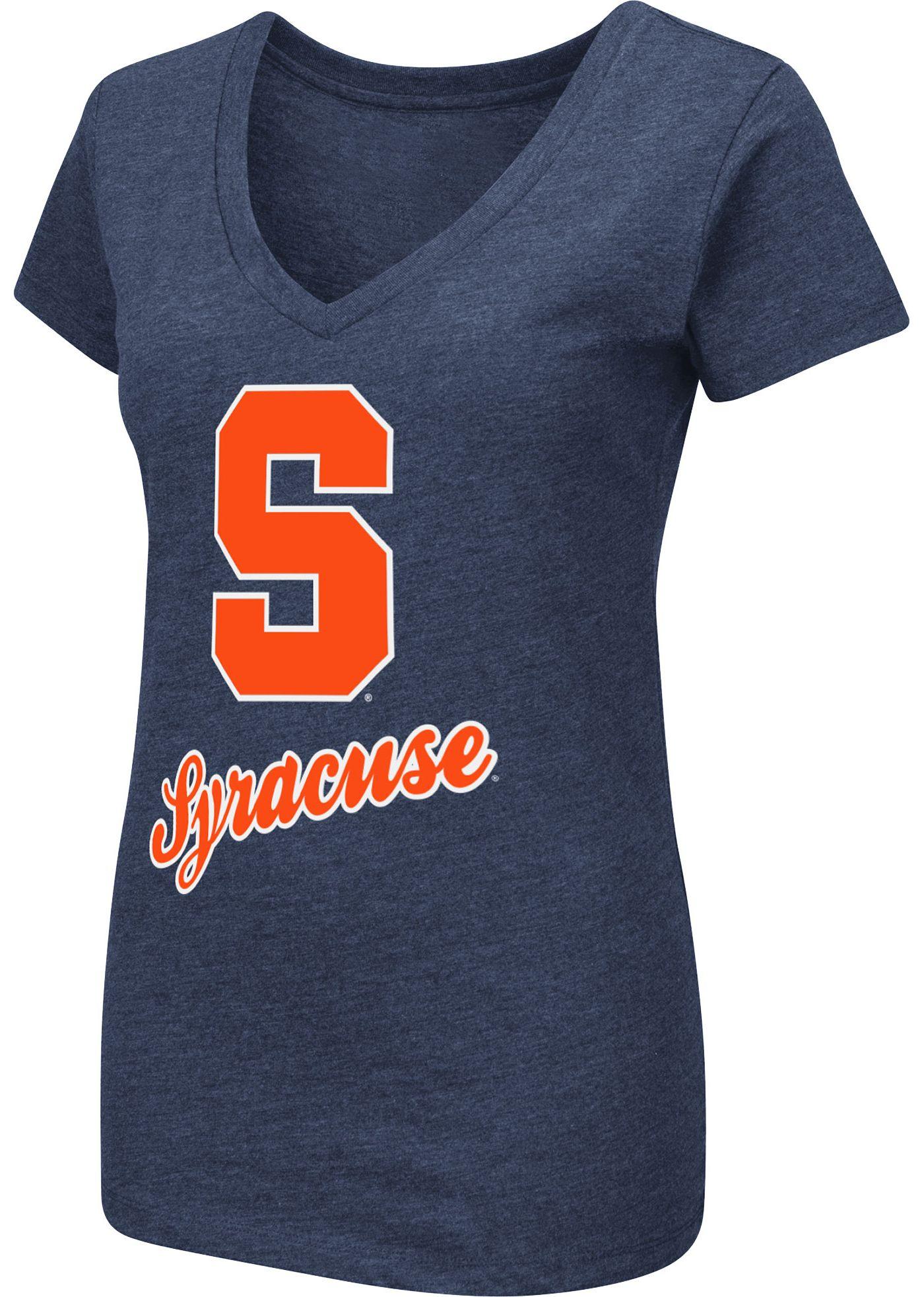 Colosseum Women's Syracuse Orange Blue Dual Blend V-Neck T-Shirt