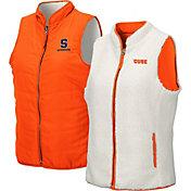 Colosseum Women's Syracuse Orange Orange Blatch Reversible Full-Zip Vest