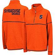 Colosseum Women's Syracuse Orange Orange Horsetail Half-Zip Shirt