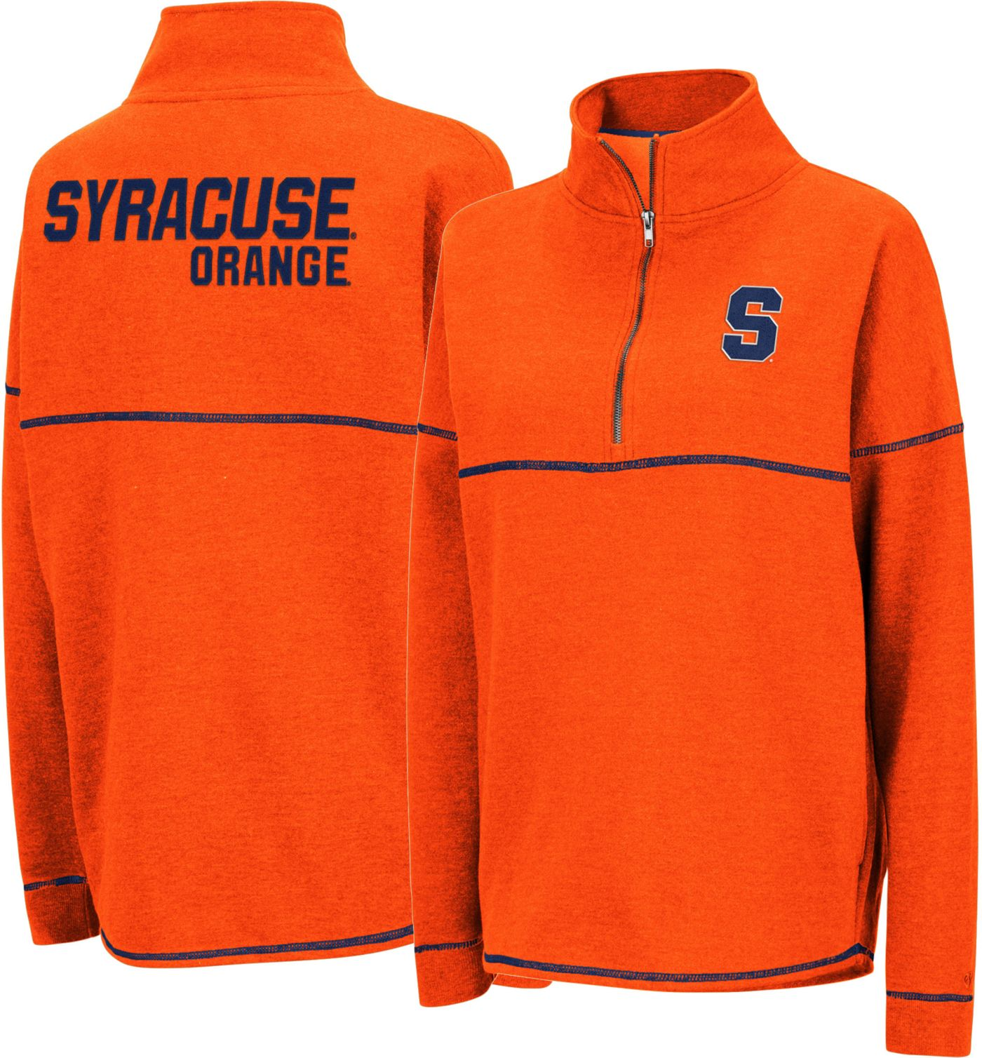 Colosseum Women's Syracuse Orange Orange Horsetail Half-Zip Shirt