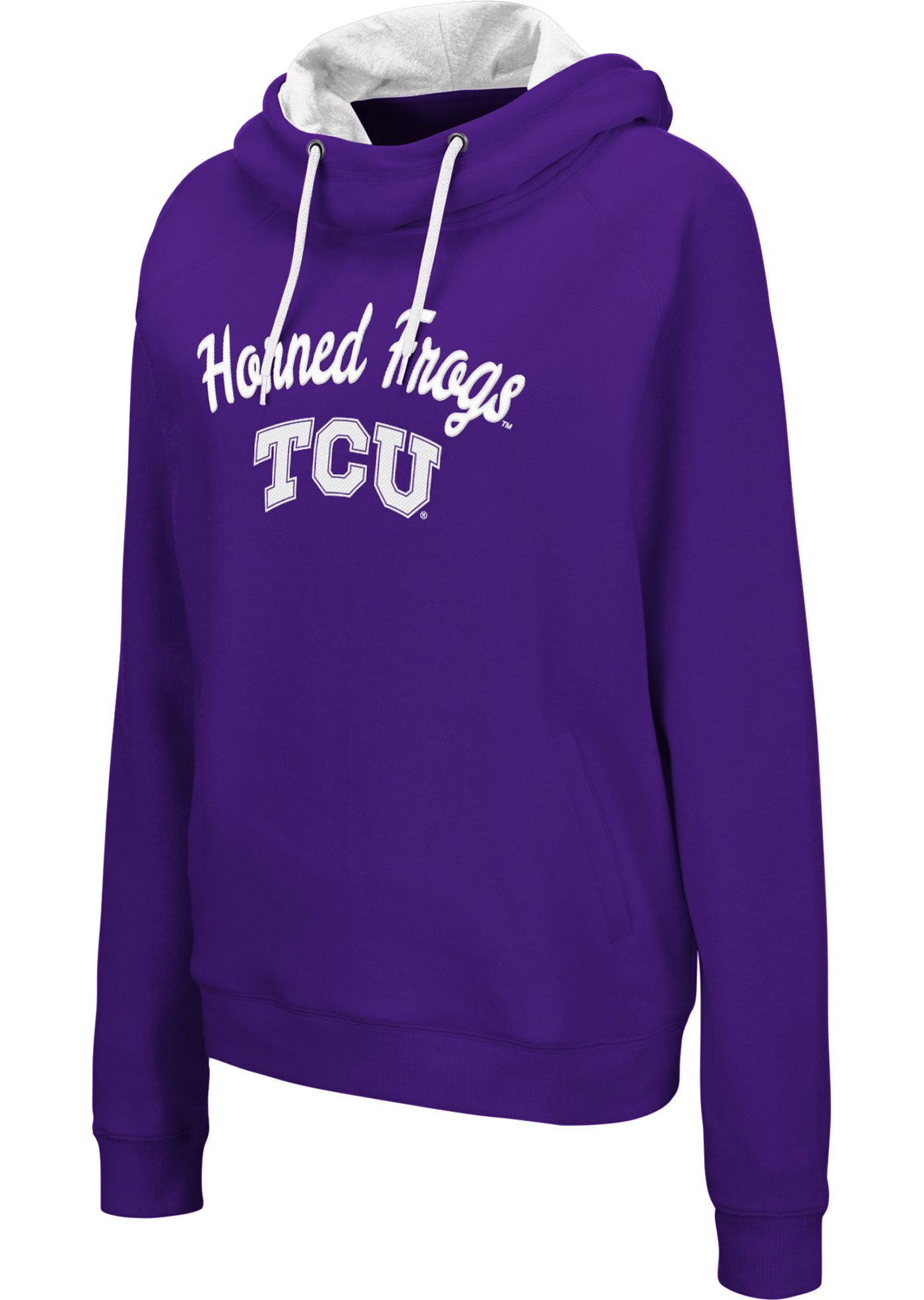 Colosseum Women's TCU Horned Frogs Purple Louise Pullover Sweatshirt