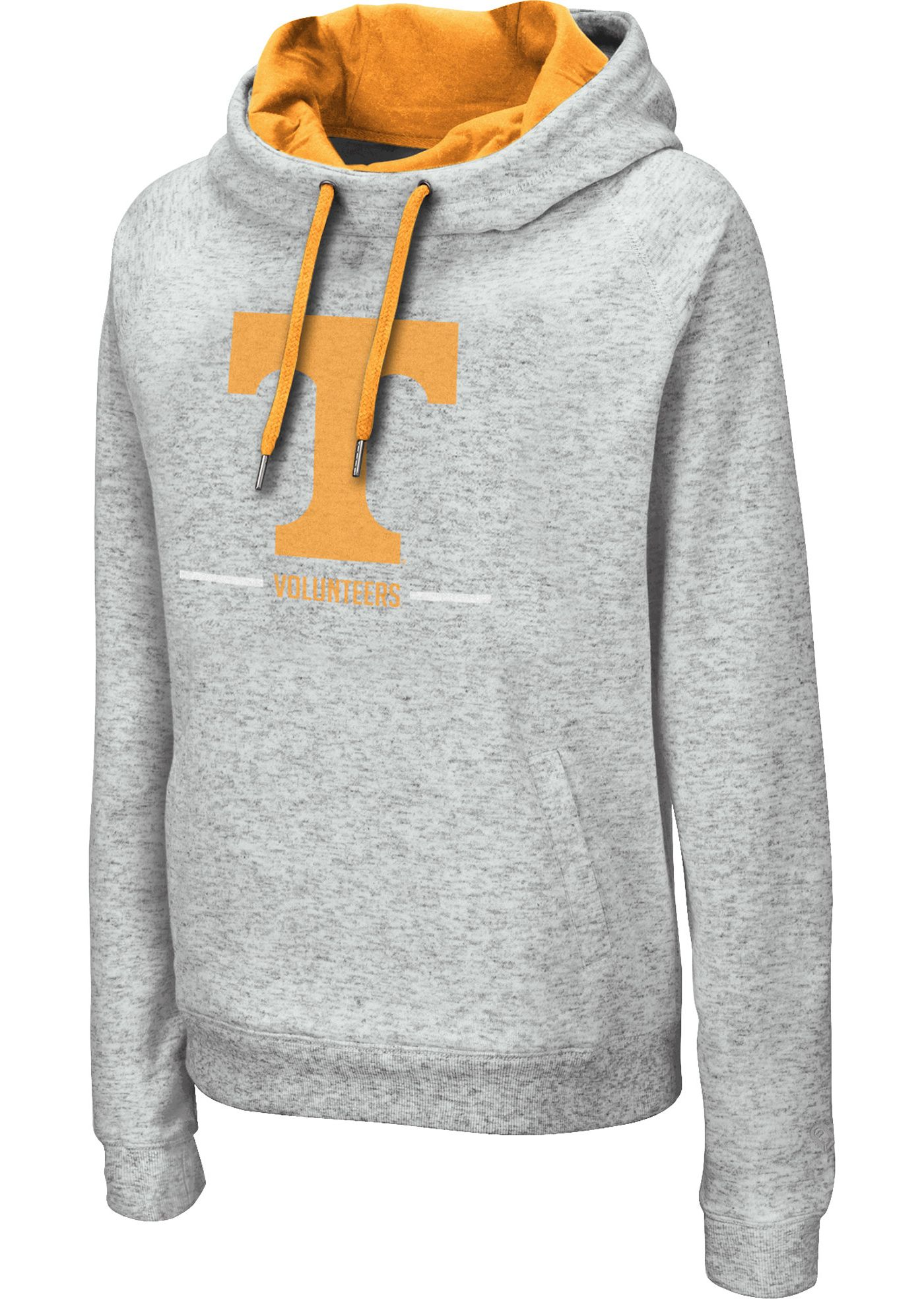 Colosseum Women's Tennessee Volunteers Grey Lily Funnel Neck Pullover Hoodie