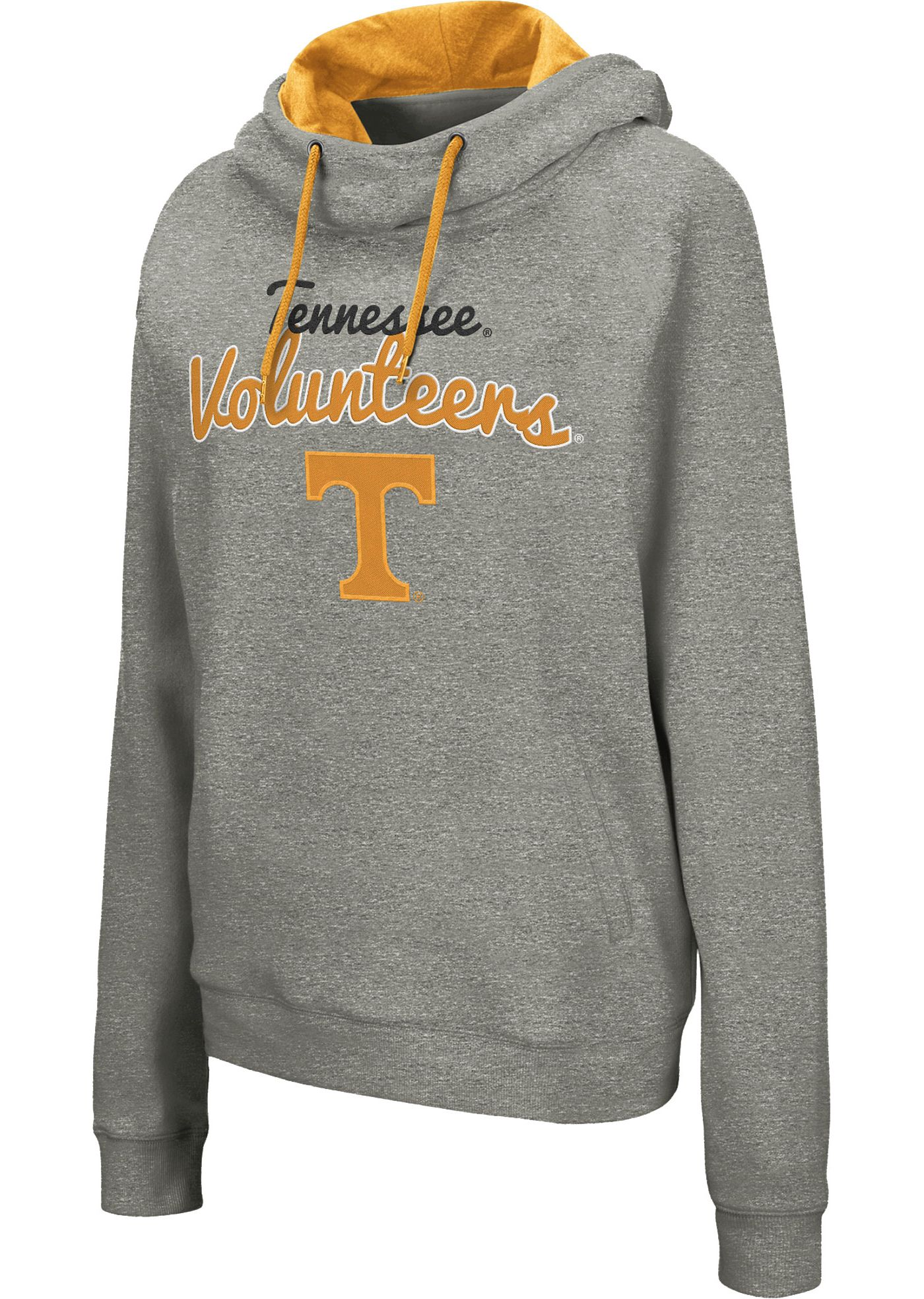 Colosseum Women's Tennessee Volunteers Grey Studio Funnel Pullover Hoodie