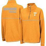 Colosseum Women's Tennessee Volunteers Tennessee Orange Horsetail Half-Zip Shirt