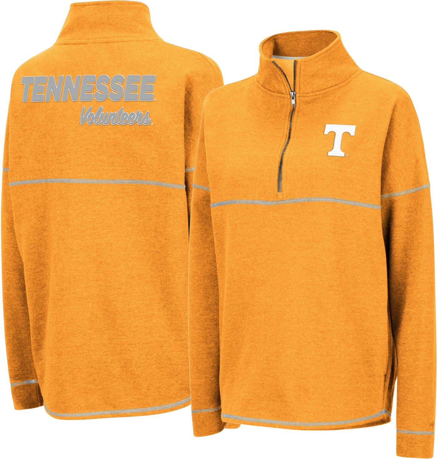 Colosseum Women's Tennessee Volunteers Tennessee Orange Horsetail Half-Zip Shirt