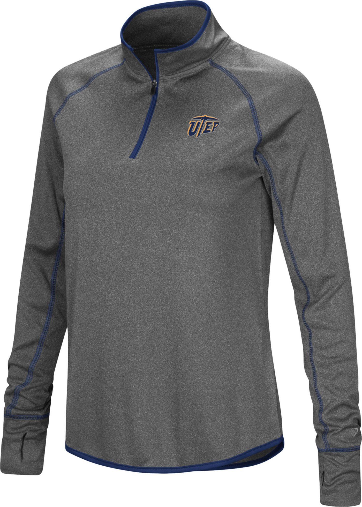 Colosseum Women's UTEP Miners Grey Stingray Quarter-Zip Shirt