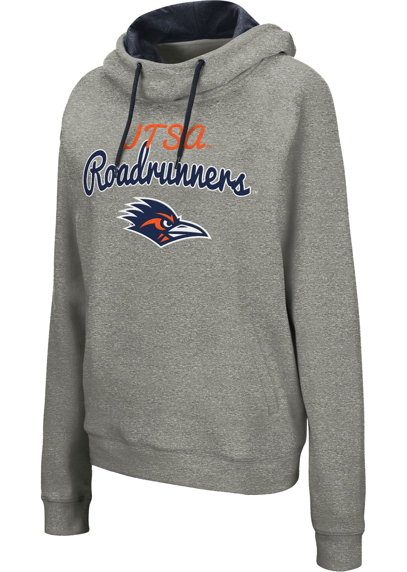 Colosseum Women's UT San Antonio Roadrunners Grey Studio Funnel Pullover Hoodie