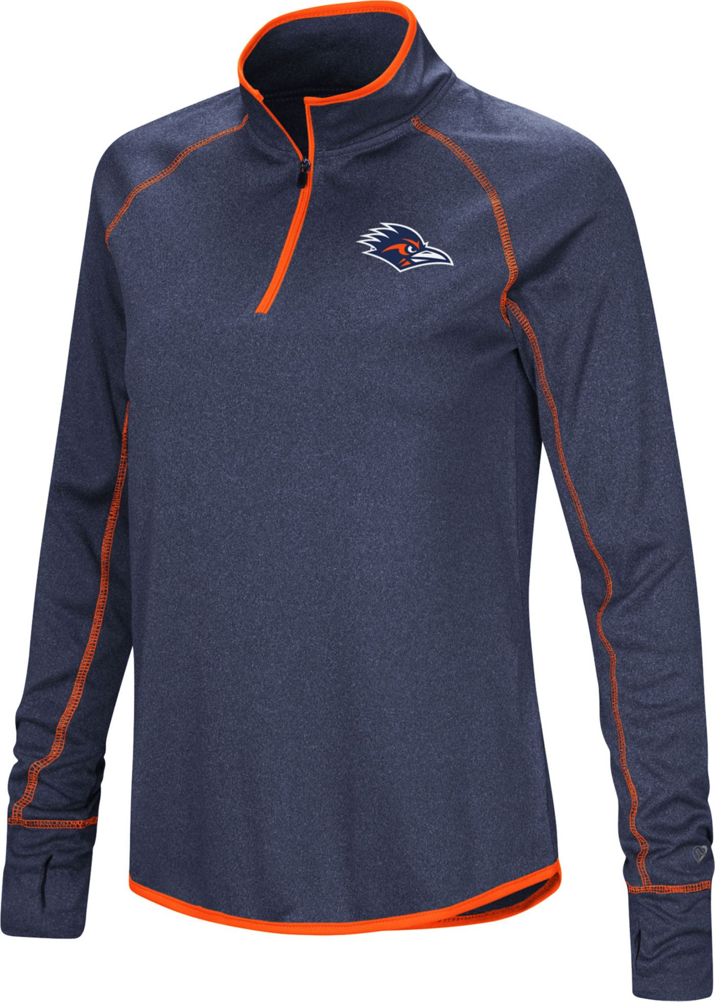 Colosseum Women's UT San Antonio Roadrunners Blue Stingray Quarter-Zip Shirt