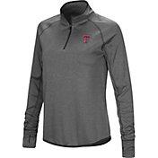 Colosseum Women's Texas Tech Red Raiders Grey Stingray Quarter-Zip Shirt