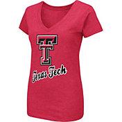 Colosseum Women's Texas Tech Red Raiders Red Dual Blend V-Neck T-Shirt