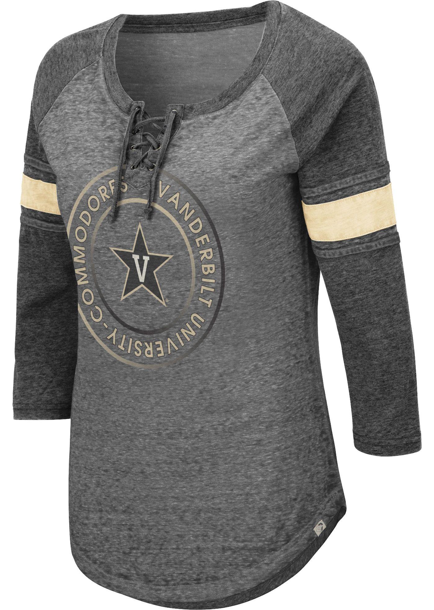 Colosseum Women's Vanderbilt Commodores Grey Carrie Long Sleeve T-Shirt
