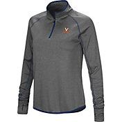 Colosseum Women's Virginia Cavaliers Grey Stingray Quarter-Zip Shirt