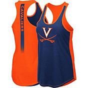 Colosseum Women's Virginia Cavaliers Blue/Orange Publicist Tank Top