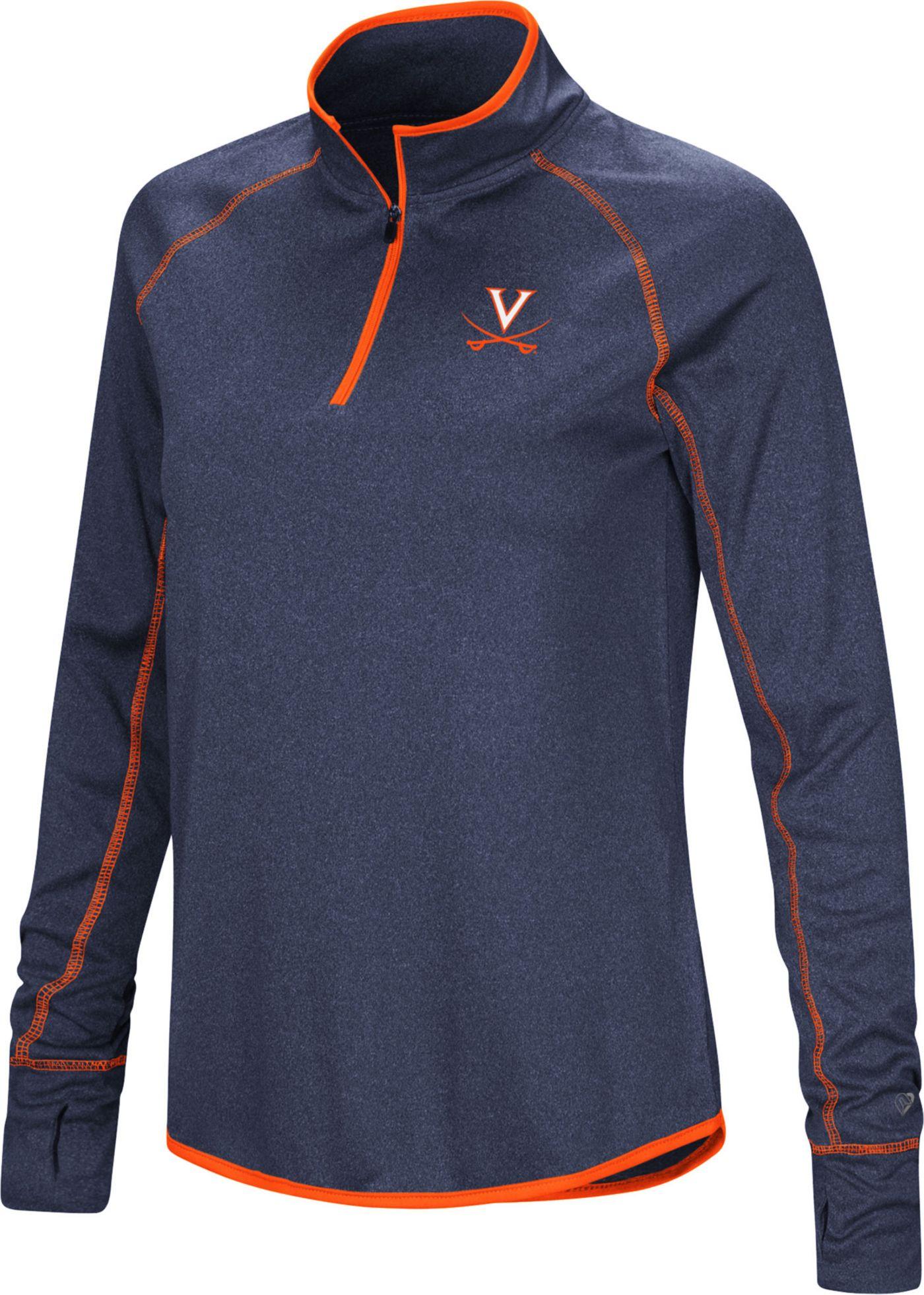 Colosseum Women's Virginia Cavaliers Blue Stingray Quarter-Zip Shirt