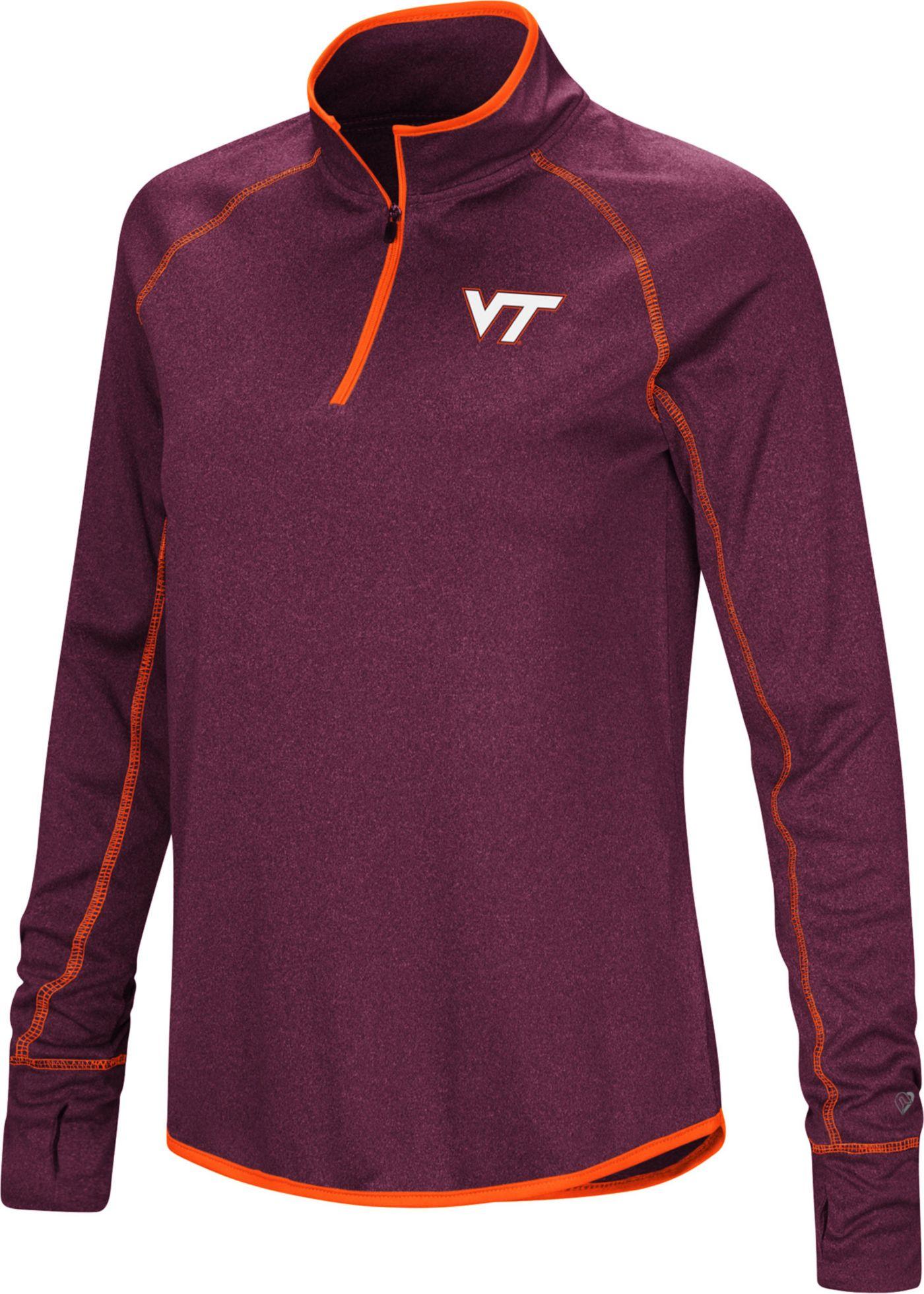 Colosseum Women's Virginia Tech Hokies Maroon Stingray Quarter-Zip Shirt