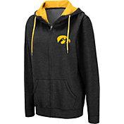 Colosseum Women's Iowa Hawkeyes Full-Zip Black Hoodie