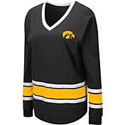 Colosseum Women's Iowa Hawkeyes Alrighty Long Sleeve Black T-Shirt