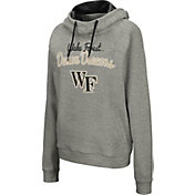 Colosseum Women's Wake Forest Demon Deacons Grey Studio Funnel Pullover Hoodie