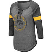 Colosseum Women's Iowa Hawkeyes Grey Carrie Long Sleeve T-Shirt